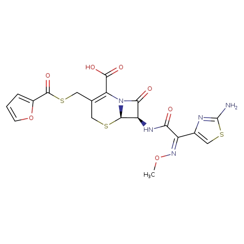 (6R,7R)-7-[(2Z)-2-(2-amino-1,3-thiazol-4-yl)-2-(methoxyimino)acetamido]-3-[(furan-2-carbonylsulfanyl)methyl]-8-oxo-5-thia-1-azabicyclo[4.2.0]oct-2-ene-2-carboxylic acid
