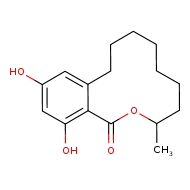 12,14-dihydroxy-3-methyl-3,4,5,6,7,8,9,10-octahydro-1H-2-benzoxacyclododecin-1-one