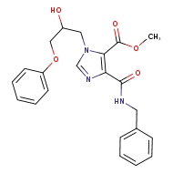 methyl 4-(benzylcarbamoyl)-1-(2-hydroxy-3-phenoxypropyl)-1H-imidazole-5-carboxylate