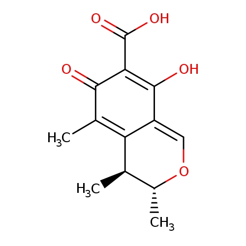 (3R,4S)-8-hydroxy-3,4,5-trimethyl-6-oxo-4,6-dihydro-3H-2-benzopyran-7-carboxylic acid