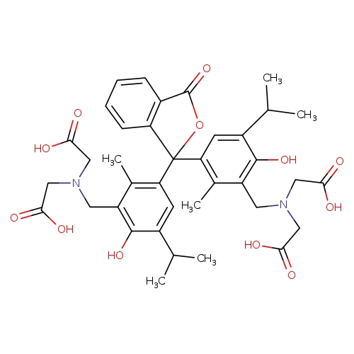 2-[({3-[1-(3-{[bis(carboxymethyl)amino]methyl}-4-hydroxy-2-methyl-5-(propan-2-yl)phenyl)-3-oxo-1,3-dihydro-2-benzofuran-1-yl]-6-hydroxy-2-methyl-5-(propan-2-yl)phenyl}methyl)(carboxymethyl)amino]acetic acid