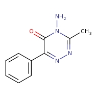 4-amino-3-methyl-6-phenyl-4,5-dihydro-1,2,4-triazin-5-one