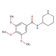 3,4,5-trimethoxy-N-(piperidin-3-yl)benzamide