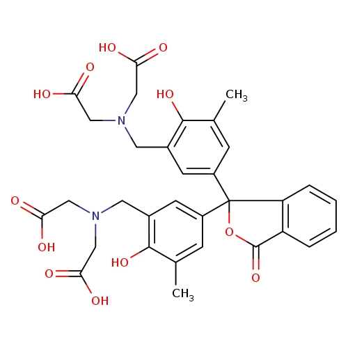 2-[({5-[1-(3-{[bis(carboxymethyl)amino]methyl}-4-hydroxy-5-methylphenyl)-3-oxo-1,3-dihydro-2-benzofuran-1-yl]-2-hydroxy-3-methylphenyl}methyl)(carboxymethyl)amino]acetic acid