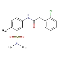 2-(2-chlorophenyl)-N-[3-(dimethylsulfamoyl)-4-methylphenyl]acetamide