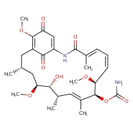 (4E,6Z,8S,9S,10E,12S,13R,14S,16R)-13-hydroxy-8,14,19-trimethoxy-4,10,12,16-tetramethyl-3,20,22-trioxo-2-azabicyclo[16.3.1]docosa-1(21),4,6,10,18-pentaen-9-yl carbamate