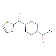 1-[4-(thiophene-2-carbonyl)piperazin-1-yl]ethan-1-one