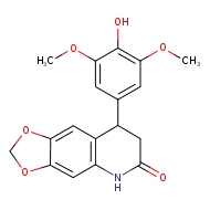 8-(4-hydroxy-3,5-dimethoxyphenyl)-2H,5H,6H,7H,8H-[1,3]dioxolo[4,5-g]quinolin-6-one